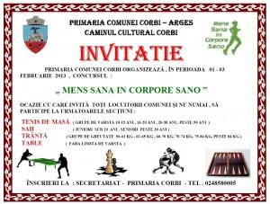 invitatie concurs sport