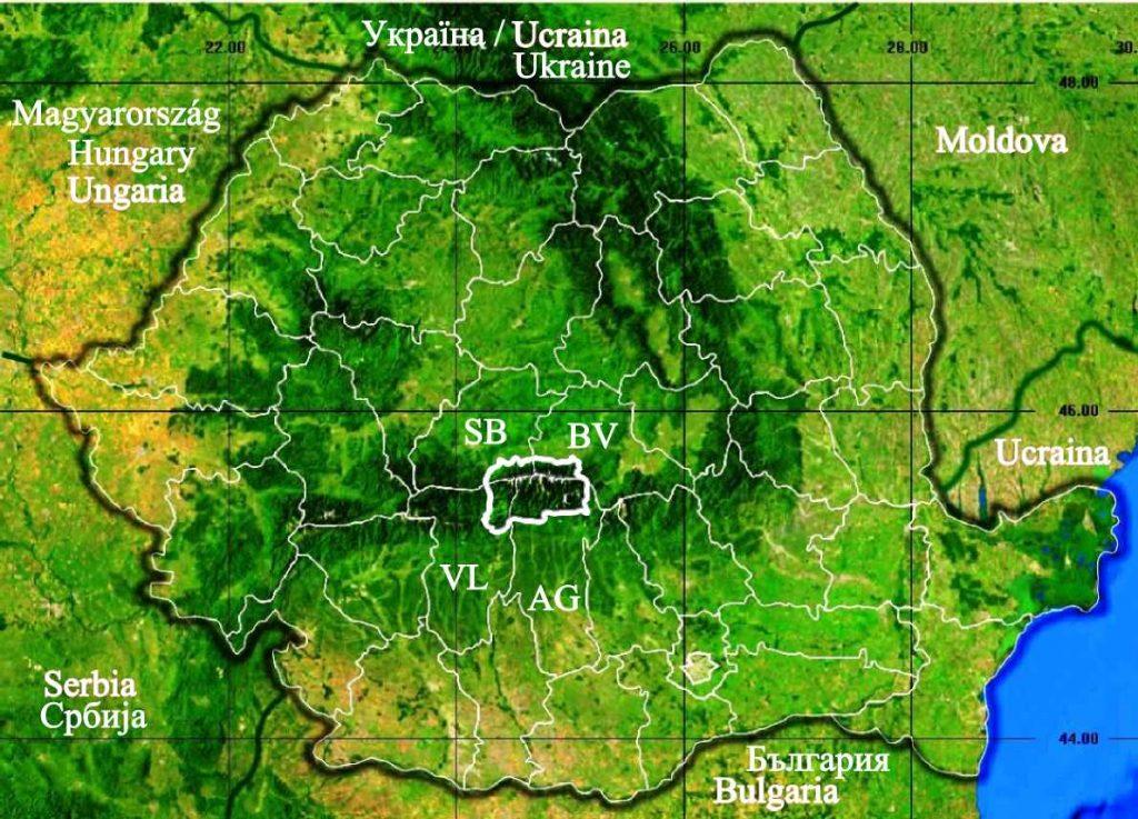 harta_localizare_muntii_fagarasului_romania